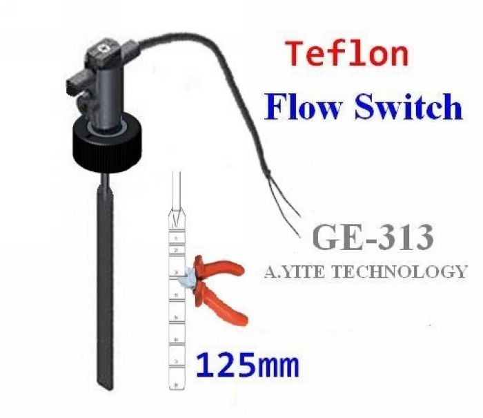 GE-313 Teflon PTFE Plastic Paddle Flow Switch
