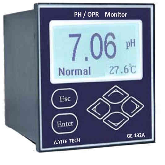 GE-132 PH & OPR  Analysis Meter