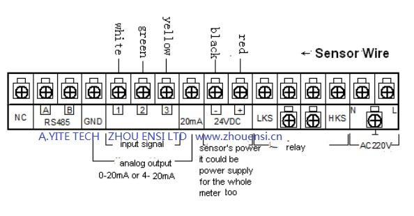 wire diagram of sludge depth meter